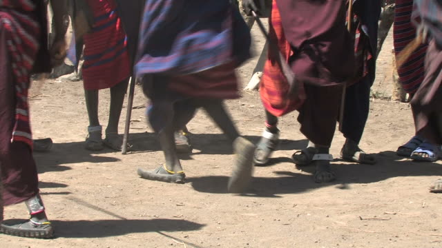 masai warrior dance - tanzania stock videos & royalty-free footage