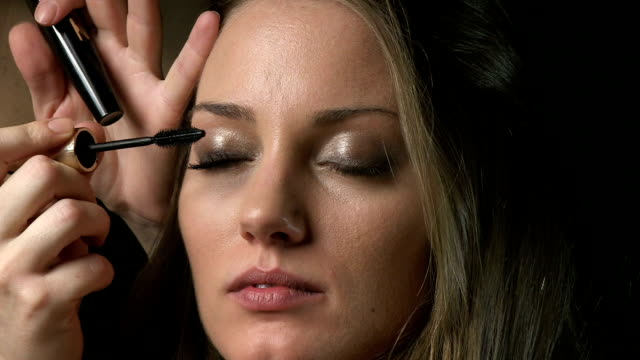 mascara - blusher make up stock videos and b-roll footage