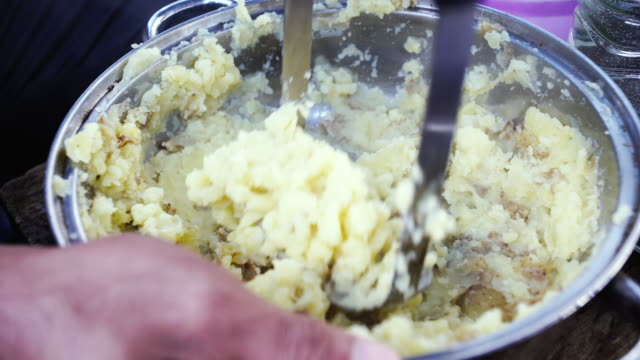 mashed potatoes - mashed potatoes stock videos & royalty-free footage
