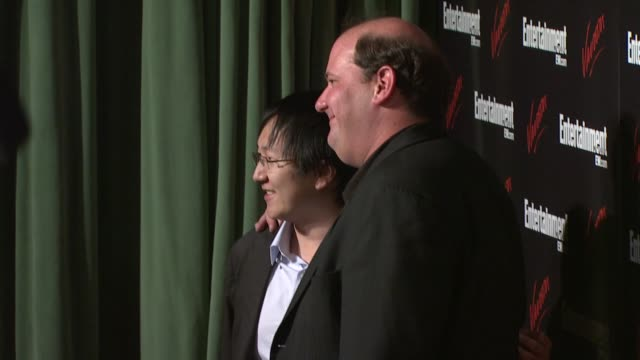 Masi Oka and Brian Baumgartner at the Entertainment Weekly/Vavoom Upfront Party at the Bowery Hotel in New York New York on May 13 2008