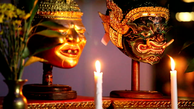 mask in thai classical style - thai culture stock videos & royalty-free footage