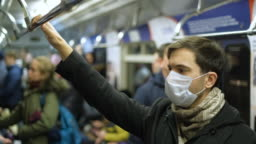 Masked People Metro. Coronavirus. Corona Virus. Covid-19. 2019-ncov. SARS-CoV-2.