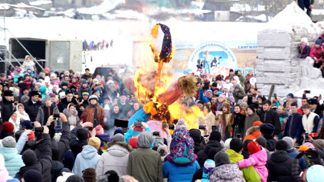 maslenitsa the festival is celebrated in late february early march it marks the end of a long winter and early spring as in orthodoxy it marks the... - russian culture stock videos & royalty-free footage