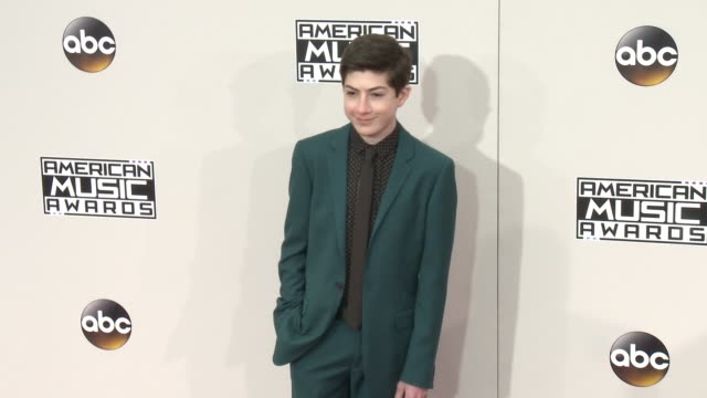 mason cook at 2016 american music awards at microsoft theater on november 20 2016 in los angeles california - american music awards stock videos and b-roll footage