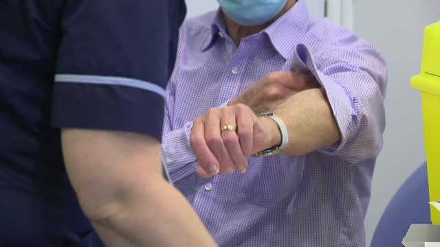 mass covid-19 vaccination centre at epsom racecourse, surrey - surrey england stock videos & royalty-free footage