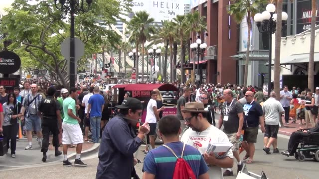 Mass crowds on streets of San Diego Comic Con at Celebrity Sightings ComicCon International 2013 Celebrity Sightings ComicCon International 2013 on...