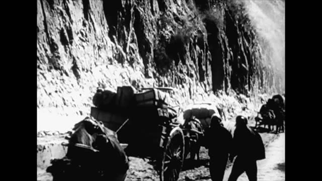 mass migration of chinese civilians westward away from japanese controlled territories - 1938 stock videos & royalty-free footage