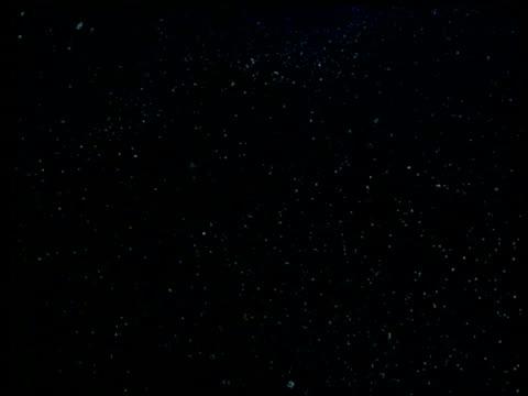 vidéos et rushes de mass of crystals, starry night like view - effet visuel