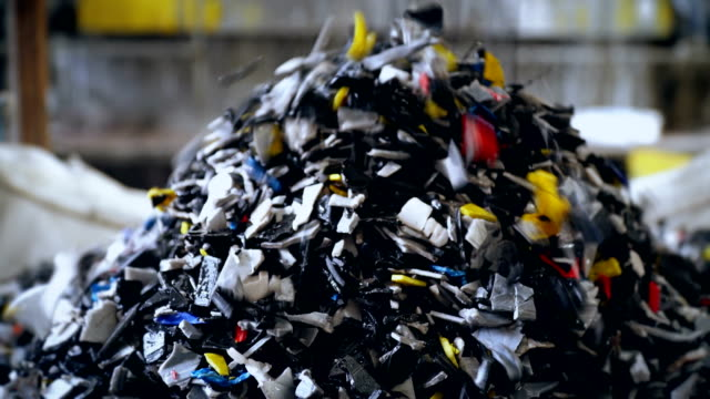 mass of recycled plastic - rubbish stock videos & royalty-free footage