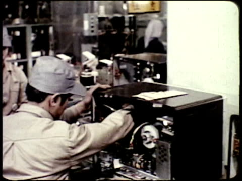 1963 montage mass production of television sets / japan  - showa period stock videos & royalty-free footage