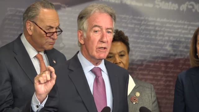 massachusetts congressman richard neal ranking democrat on the house ways and means committee says that a budget resolution would kick off tax reform... - war in afghanistan: 2001 present stock-videos und b-roll-filmmaterial