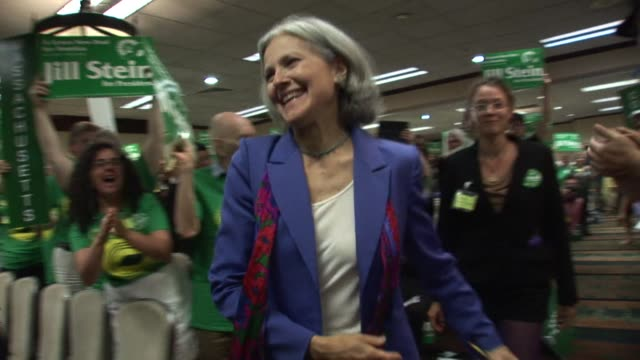 massachusetts physician jill stein won the us green party presidential nomination on saturday at the party's baltimore convention while second place... - jill stein stock videos and b-roll footage