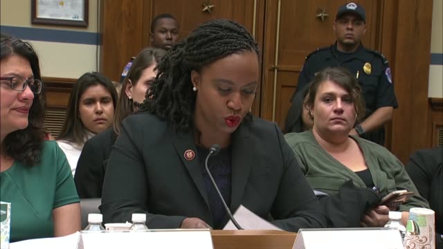 massachusetts representative ayanna pressley testifies at a house oversight and reform committee hearing on immigrant family separation that on the... - forgiveness stock videos and b-roll footage