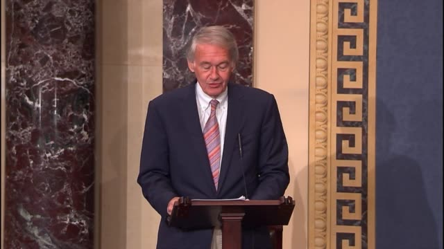 "stockvideo's en b-roll-footage met massachusetts senator ed markey argues that parents need to recognize in target, home depot, sony, and neiman marcus that ""there are pitfalls to the... - neiman marcus"
