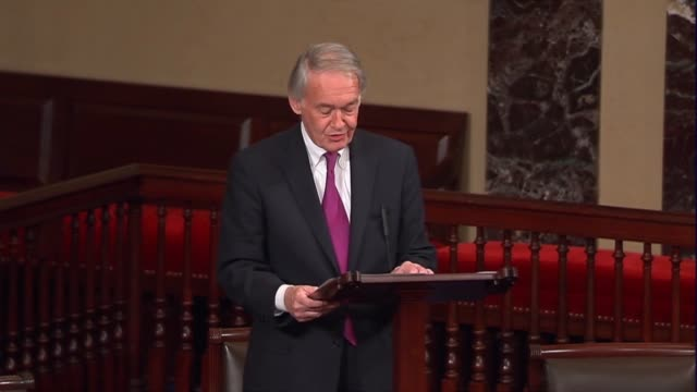 massachusetts senator ed markey engages in the floor debate over the nomination of judge neil gorsuch to sit on the supreme court, discussing his... - nominee stock videos & royalty-free footage