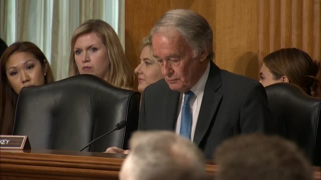 Massachusetts Senator Ed Markey engages Secretary of State Mike Pompeo at a Senate Foreign Relations Committee hearing over a quote of National...