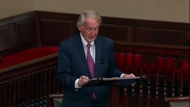 massachusetts senator ed markey says congress must give americans a monthly cash payment of 2000 dollars to have funding to pay their bills, a single... - anglican stock videos & royalty-free footage