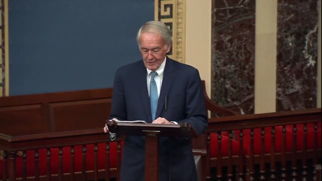 massachusetts senator ed markey says during 30 hour floor debate before a confirmation vote for seventh circuit judge amy coney barrett to the... - philosophy stock videos & royalty-free footage