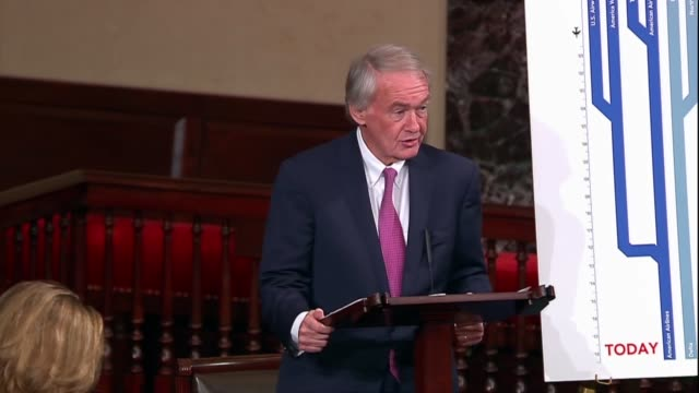 massachusetts senator ed markey says in debate on a fiveyear reauthorization of the federal aviation administration that to evaluate whether change... - paranoia stock videos & royalty-free footage