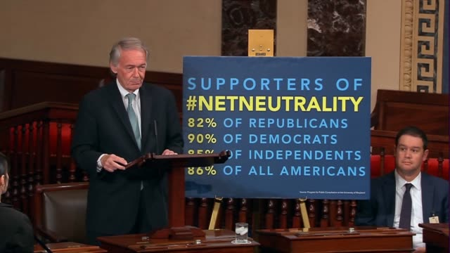 Massachusetts Senator Ed Markey says the day the Federal Communications Commission allowed net neutrality regulations to lapse that there was an...