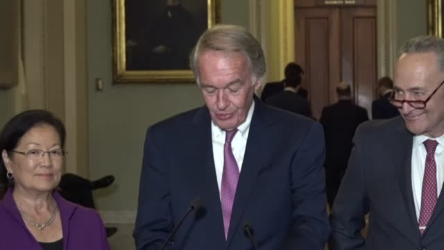 Massachusetts Senator Ed Markey tells reporters at a regular weekly briefing on Halloween that Republicans are once again reaching into their old bag...