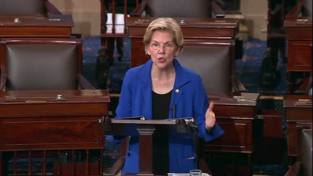 massachusetts senator elizabeth warren says after reading portions of a redacted report by special counsel robert mueller that every republican and... - senate stock videos & royalty-free footage