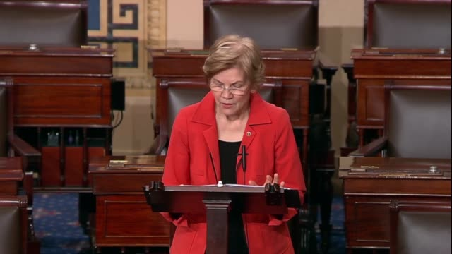 massachusetts senator elizabeth warren says in opposition to the judicial nomination of thomas alvin farr that according to the brennan center for... - bull's eye stock videos and b-roll footage