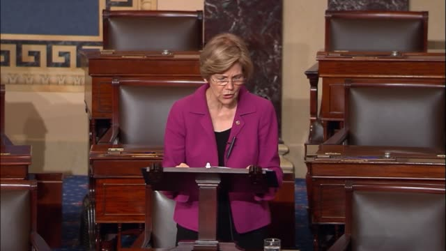 massachusetts senator elizabeth warren says john kenneth bush nominee to be a judge on the sixth circuit has demonstrated a level of disrespect for... - nancy pelosi stock videos and b-roll footage