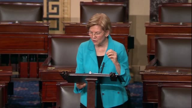 massachusetts senator elizabeth warren says supreme court nominee brett kavanaugh would for 40 years be a reliable vote for whatever giant companies... - brett kavanaugh stock videos and b-roll footage