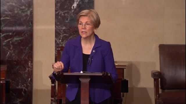 massachusetts senator elizabeth warren says that senator rubio supports fully funding the president's response plan to the outbreak of the zika virus... - dime stock videos and b-roll footage