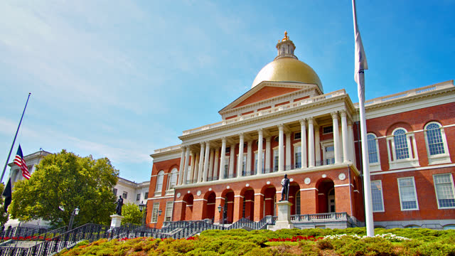 massachusetts state house. boston. - maryland us state stock videos & royalty-free footage