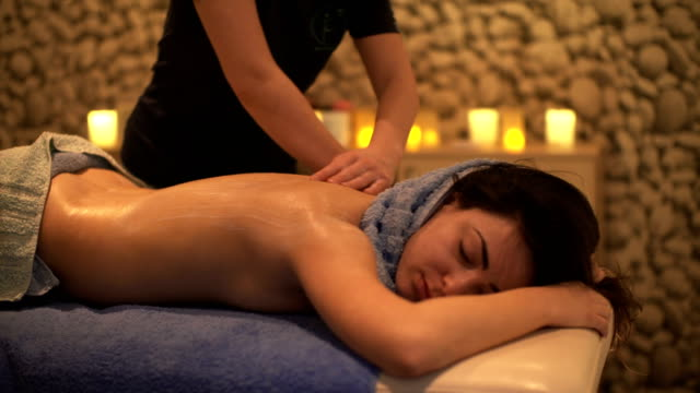 massage at spa - beauty treatment stock videos and b-roll footage