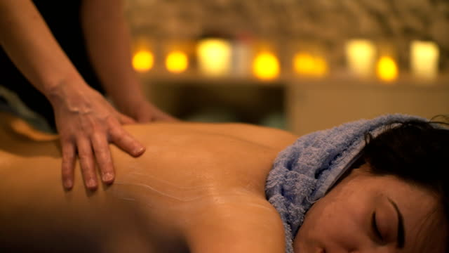 massage at spa - femininity stock videos and b-roll footage