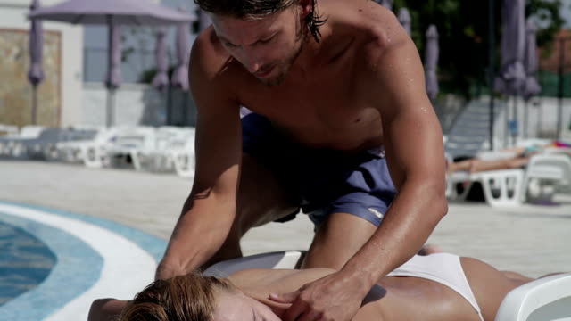 Massage at the pool