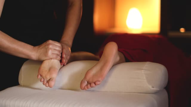 massage for healthy feet - health resort stock videos & royalty-free footage