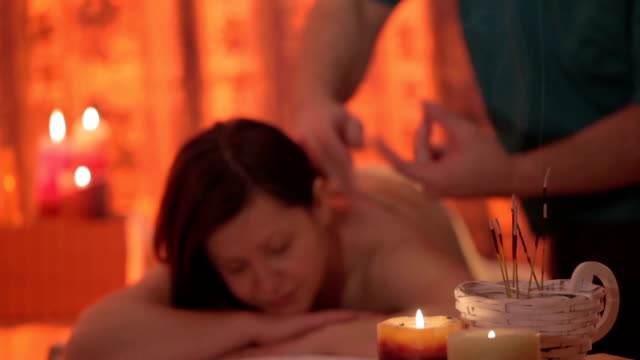 massage therapy treatment - acupuncture stock videos and b-roll footage