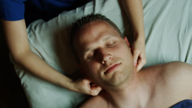 masseuse massaging a man - payson stock videos & royalty-free footage