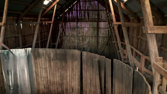 massive abandoned farmland barn - barn stock videos & royalty-free footage