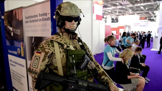 a massive arms fair showcasing technology to tackle everything from militant groups to civil unrest and hackers opened in london on tuesday despite... - militant groups stock videos and b-roll footage
