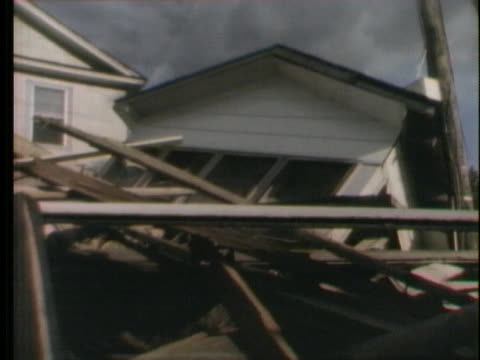 massive destruction following hurricane agnes in wilkes-barre, pennsylvania. - wilkes barre stock videos & royalty-free footage