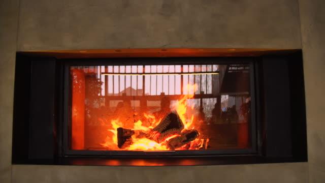 Massive Fire in Fireplace