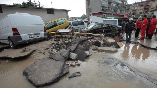 massive flash flooding and mudslides in the district of asparuhovo varna bulgaria at least 11 people have died some of the victims are children the... - victim stock videos & royalty-free footage