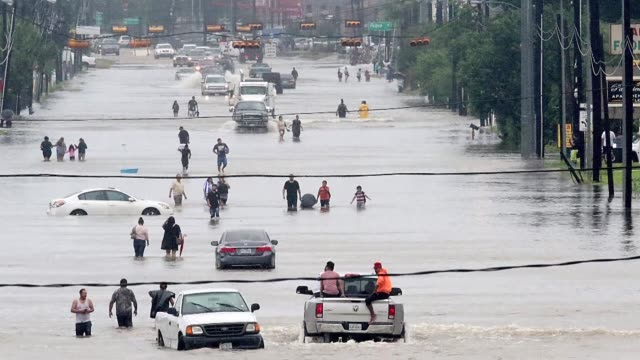 Massive flooding unleashed by deadly monster storm Harvey left Houston the fourth largest city in the United States increasingly isolated Sunday as...