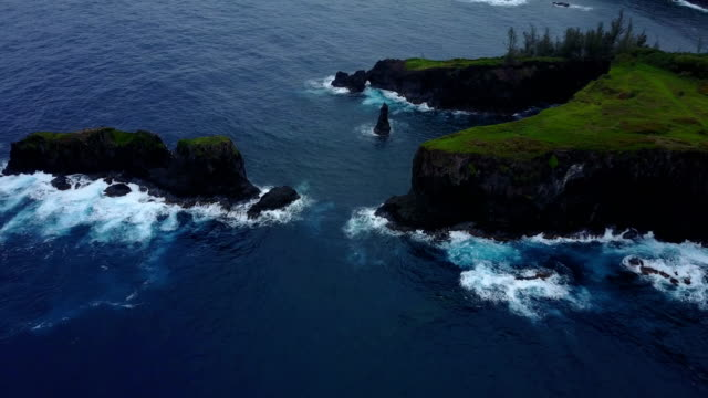 massive green peninsula on edge of maui island - peninsula stock videos and b-roll footage
