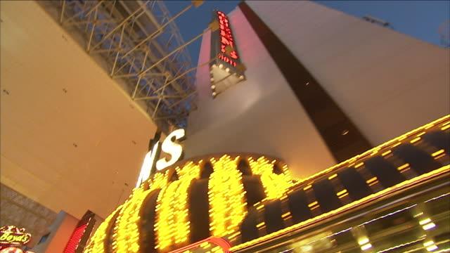 massive hotels and casinos line the las vegas, nevada strip. - caesars palace las vegas stock videos & royalty-free footage