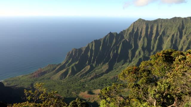 stockvideo's en b-roll-footage met enorme berg stekels op kauai eiland - hawaiiaanse etniciteit
