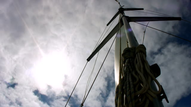 hd :マストの帆船 - 大三角帆点の映像素材/bロール