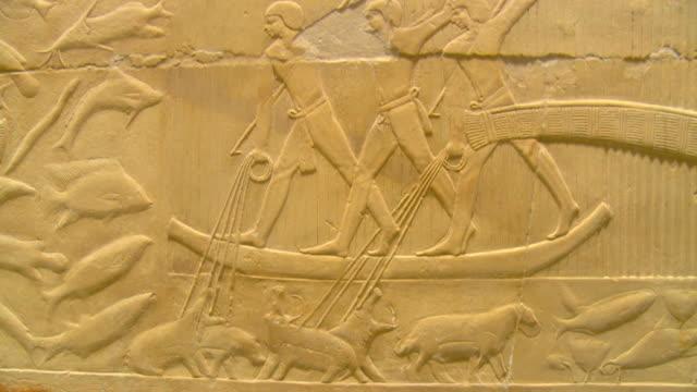 cu zi tu mastaba interior and ancient reliefs at saqqara archeological site / saqqara, egypt - saqqara stock videos and b-roll footage