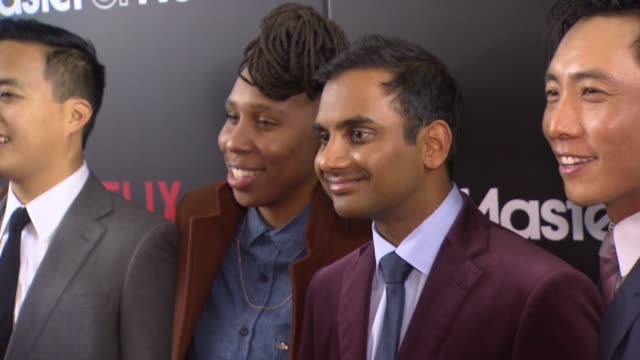 chyron master of none new york premiere at amc loews 19th street theater on november 05 2015 in new york city - amc loews stock videos and b-roll footage