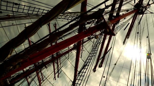 masts and rigging at sunset - the past stock videos and b-roll footage